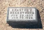 Erastus Heckethorn gravestone