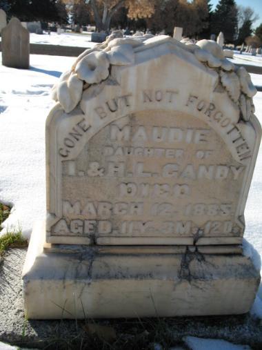 Reverse Maudie Gandy gravestone