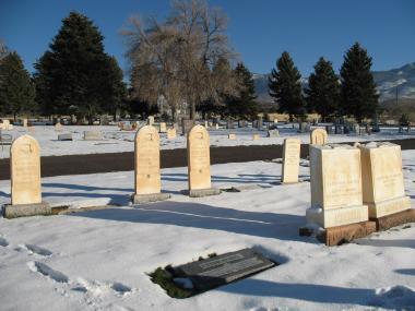 Robison burial plot Fillmore