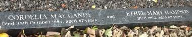 Grave kerb