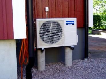 Placering av luft luft värmepump